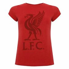 Liverpool FC Red Marl Womens Football Liverbird T-Shirt AW19 LFC Official