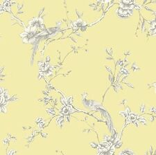ARTHOUSE CHINOISE YELLOW WHITE FLORAL BIRDS OPERA HEAVYWEIGHT WALLPAPER 4228041