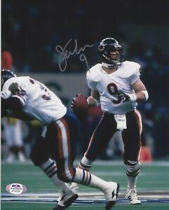 Jim McMahon Chicago Bears Autographed Signed 8x10 Photo COA PSA