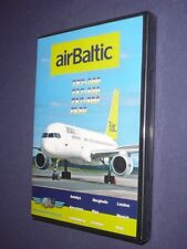 JUST PLANES COCKPIT VIDEO DVD :     AIR  BALTIC   ( Latvia )        new & sealed