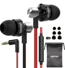 Betron Wired Earphone with Mic and Remote Powerful Bass Noise Isolating Earbuds
