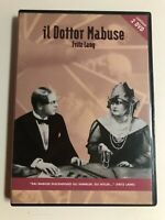 IL DOTTOR MABUSE 2 DVD COME NUOVO FRITZ LANG THRILLER RARO FUORI CATALOGO