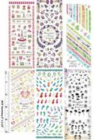39 SETS Nail art water transfer decal stickers HOT Animals Flowers Kitty Love