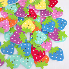 Mix Strawberry Wood Sewing Button Scrapbooking Decor Handmade Accessories LH
