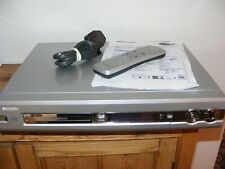 PHILIPS DVDR70 DVD RECORDER PLAYER DVD SILVER REMOTE AND POWER CABLE PRE-OWNED
