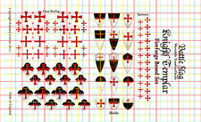 Waterslide Transfers & Flags for Templar  Knights boxed set from FireForge