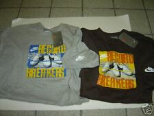 2 NEW MENS NIKE GREY & BROWN RECORD BREAKERS S/S TSHIRTS SIZE L