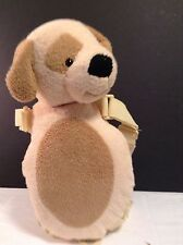 EDDIE BAUER RATTAN BACKPACK PLUSH DOG TAN GUC PUPPY