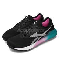 Reebok Nano 9 Black Teal Pink White Women CrossFit Training Shoes Sneaker FU7574