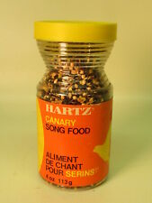 1970-1972 Hartz Canary Song Food Jar Canadian  Imperial - Metric Trasititional