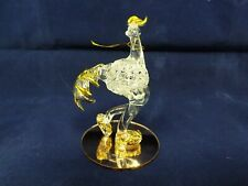 Dura-best Creations are Handmade - Glass Bird w/ Gold-Tone Trim