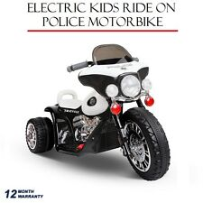 Electric Kids Ride On Harley Inspired Police Motorbike Toy Motorcycle Children
