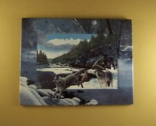 New Frontier Edge Of The Wild Plate Wolf Kevin Daniel #1 Wolves Bradford Exch