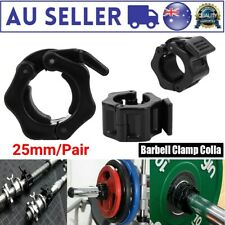 2 PC 25mm Dumbbell Barbell Lock Clamp Collar Clip for Excising Training AU Stock