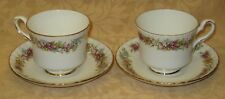 2 x Royal Stafford Love Story English Bone China Cups & Saucers - more available