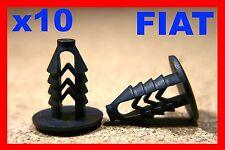 10 FIAT door card lining plastic fascia trim panel board fastener clips pin