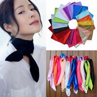 Women Fashion Silk Square Scarf Bandana Neckerchief Head Neck Wrap Scarves NEW