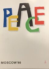 More details for 1980 vintage ussr moscow 1980 olympic games peace poster affiche