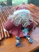 "Cute Vintage Santa Claus Button Ornament Christmas/Holiday Decor Shelf Sitter 5"""