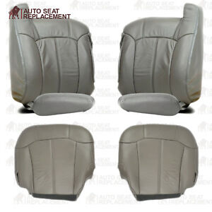 1999 2000 2001 2002 Chevy Silverado- GMC Sierra Leather Seat Cover Package Gray