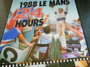 LE MANS ANNUAL YEARBOOK ACO 1988 SILK CUT JAGUAR XJR9 PORSCHE 962 TOYOTA 88C A1