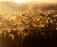 ANTIQUE LEADVILLE FROM CAPITOL HILL COLORADO GOLD MINING TOWN STEREOVIEW PHOTO
