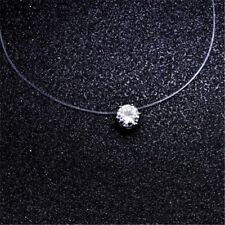 2018 Top Quality Transparent Fishing Line Chain Link Zircon CZ Choker Necklace