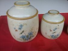 Set of 2 Vintage Mikasa Garden Club Day Dreams Canister Set Great Condition