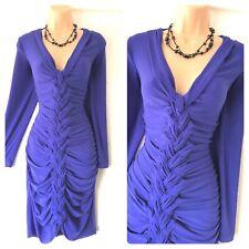 Frank Lyman Purple Braid Front Style Jersey Stretchy Dress Size 12-14