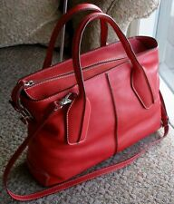 Authentic TOD'S D Styling Style Red Media Bauletto Tote Bag $1665 RTL