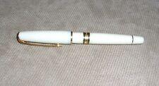 VINTAGE IVORY GOLD WATERMAN PARIS FOUNTAIN PEN 18K GOLD NIB 750 ESTATE +ink &crt