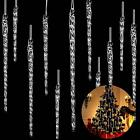 Clear Glass Icicle 3.5 - 7.8 Inch Twisted Clear Glass Icicle Christmas Ornaments