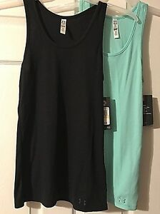 Under Armour Women's Fitted Tank Ribbed HeatGear Pick Black or Green M NWT