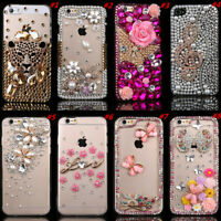 Bling handmade Crystals Diamonds Soft Clear Back Phone Cases Cover for Samsung 2