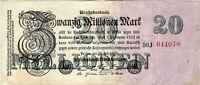 Banknote Schein 20 Millionen Mark 1923 Reichsbank DEU-108c Ro.96c P-97b SELTEN