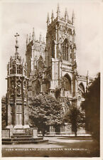 PC73592 York Minster and South African war Memorial. Excel. RP