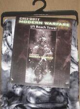 New Call of Duty Modern Warfare 2 XBox Wii Game Beach Bath Pool Gift Towel NIP