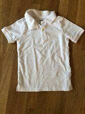 Oshkosh Boys Size 5 Short Sleeve White Uniform Piqué Polo Shirt