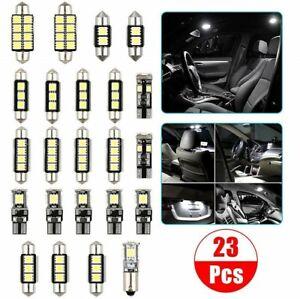 23x T10 Car Interior Inside White LED Lights Bulb Dome Plate Trunk Door Lamp Set