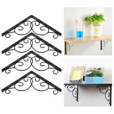 4Pcs Retro Wall Mounted Floral Style Shelf Brackets for Bookrack Calpboard Set