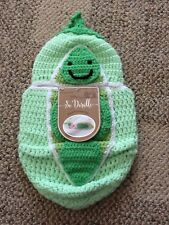 So 'Dorable Baby Peapod Cocoon Photo Outfit Green Crochet Newborn Up To 10 Lbs.
