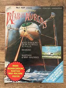 Jeff Wayne War Of The Worlds Foldout Poster Magazine 1978 number no 1