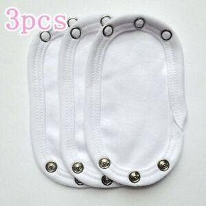 1-8pcs  Comfortable Baby Bodysuit/Vest Extender 100%Cotton 13x9cm Soft P6A*ZH UK