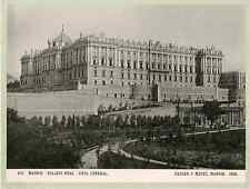 Hauser y Menet. Espagne, Madrid, palacio real, vista general  Vintage print Ph