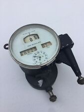 VINTAGE SPEEDOMETER 20'S BEVEL GLASS W/ CLOCK NICE HOT RAT ROD SCTA VINTAGE DASH