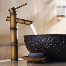 Retro Antique Brass Bamboo Shape Bathroom Basin Sink Faucet Mixer Tap Fnf108
