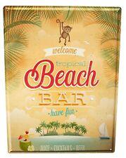 Tin Sign XXL Alcohol Retro  Beach bar Kitchen