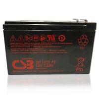 CSB 12v 7.2Ah Sealed Lead Acid OEM Replacement Battery GP1272 F2 Brand New