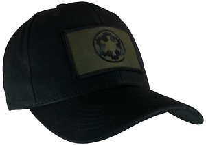 Star Wars Imperial Hat Black Ball Cap Cotton Structured OD Green & Black Emblem