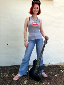 Gearhead Brand Logo Womens' Tank Top Gray Custom Hot Rod Ribbed Fitted Punk Rock